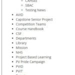 pvhigh.com sub-page menus - Wordpress website development - saidthespider.net