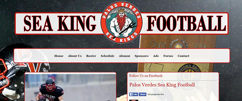 pvseakingfootball.com website developed by Patricia Gill saidthespider.net