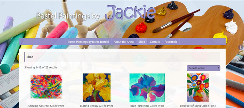 Jackie the Artist sells prints online